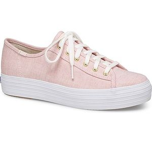 KEDS Pink Triple Kick Platform Lace Up Sneakers 7